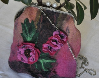 "The felted bag ""Peony"""