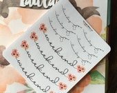 Laundry and Weekend Banner Stickers for Erin Condren Life Planners