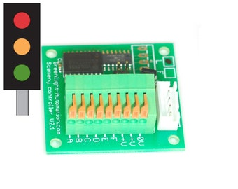 Model railway traffic light controller for LED lamps, for O, OO, N gauge