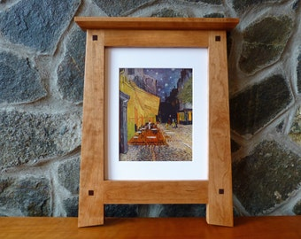 Arts and Crafts Cherry Picture Frame 11x14 Opening 8x10 With Matt