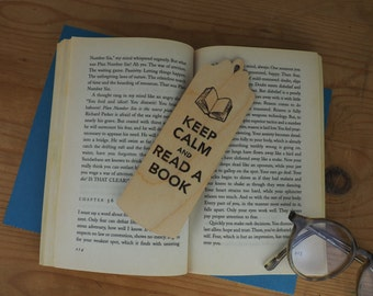 bookmarks keep calm and read a book