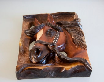 Big Hand Carved Wooden Horse