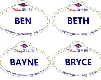Personalized Disney Cruise Line Name Tag Magnet Stateroom Door Decoration