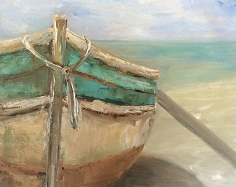 A Boat on the Beach by Laurel Genteman