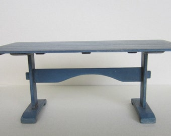 """Trestle Table 1"""" scale for Dollhouse handmade signed"""