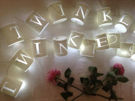 Personalised Paper Lantern Fairy Lights 20 LED Lights String
