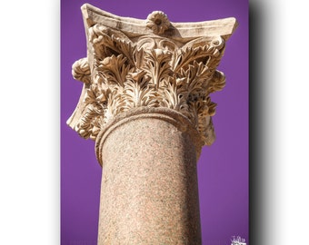 COLUMN Limited Canvas Print of Stone Architecture / Column in Beit Shean / Scythopolis Ancient National Park Israel