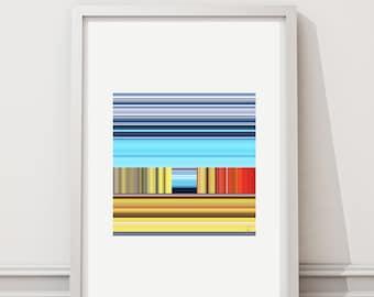 Escape 77 - Art print limited edition - 28 cm x 28 cm - frame - photographic Composition - Interior Decoration