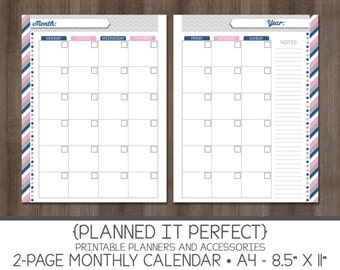 2 month calendar template 2014 - items similar to 2014 lady bug 18 month half page