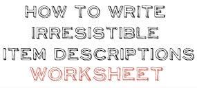 item-descriptions-worksheet