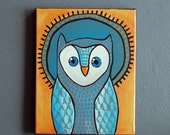 """Owl Painting - Number 5 of Series """"Mike"""""""
