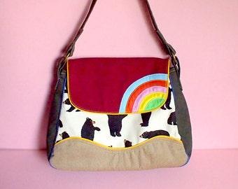 Handbag - Over The Rainbow Bag (The Black Bears)