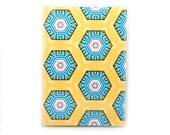 Passport Cover - Southwest Honeycomb - geometric desert hexagon passport holder - mustard and turquoise travel accessory
