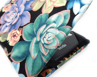 Kindle Paperwhite cover - So Succulent - hardcover case for Kindle Touch, Voyage, Paper white - colorful botanical eReader case