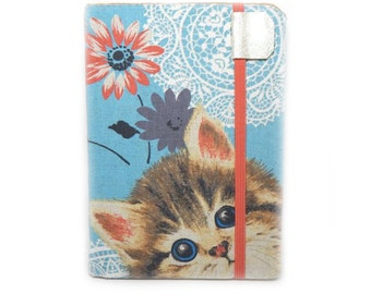 cute Kindle Cover -   Curious Kitten - case for kindle paperwhite, touch, or new basic kindle with touch - hardcover eReader cover
