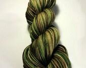 Handdyed Merino/Silk Sock Yarn - Mint Mocha Mudslide - For Pat