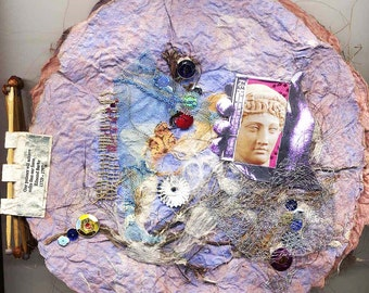 PATIENCE  Book of handmade paper, handmade paper, artist book, artists book,unique book,OOAK book,art book,circular paper,papermaking,OOAK
