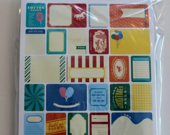Theme Park Project Life Theme Cards, Becky Higgins, American Crafts, Scrapbook Journal Cards