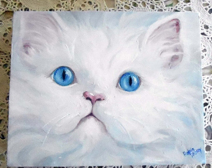 Painted Pet Portrait Art Gift Idea, Their Cat or Dog from photos