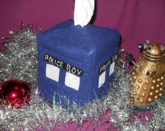 TARDIS Tissue Box Cover-Doctor Who