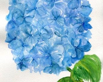 Hydrangeas Painting Watercolor Original, Small Flower Artwork, watercolor painting original, hydrangeas decor, floral watercolors paintings