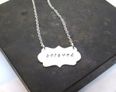 Beloved Pendant - Hand Stamped Sterling Silver Pendant - Customizable