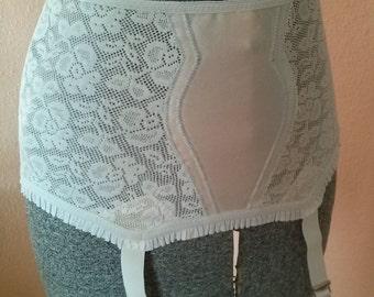 Vintage 1960s Girdle Open Bottom Garter Belt Small 2013J2