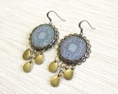 Blue Mandala Earrings - Istanbul Collection - by Loschy Designs