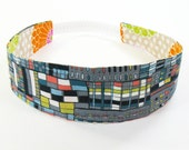 Reversible Fabric Elastic Headband - Geometric and Floral