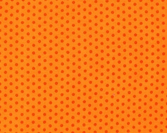 Robert Kaufman Spot On Orange Pindot Quilting Apparel Fabric BTY