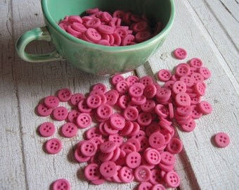 button vintage new old stock pretty pink set of 50