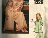 Little Vogue Child's Gown and Pants Pattern 1526