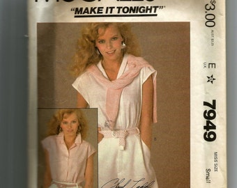 McCall's Misses'  Top Pattern 7949