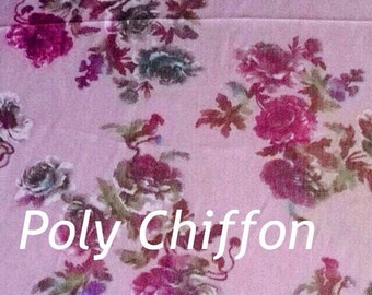 Chiffon poly sheer fabric soft bty