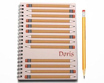 Personalized Scheduler, 2017 planner, Teacher academic planner, Writer or Literary Gift, 2017-2018 Academic Calendar, SKU: pli p script