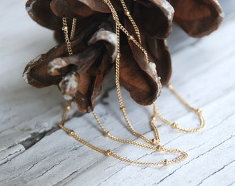 Necklace Design Your Own Series -  14kt Goldfill Satellite Chain