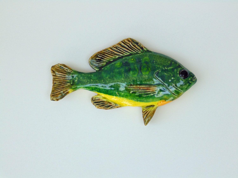 Sunfish ceramic fish art decorative wall hanging for Fish wall hanging