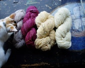 Handspun-of-the-Month Club, a Fiber CSA: 6-Month Subscription, Naturally Dyed Fiber, Made in Florida