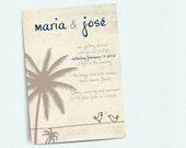 Beach Wedding Invitation  Template  Wedding Invitation Printable  Wedding Invitation Suite  Love Birds Wedding  No 15