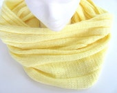 Scarf Cowl in Banana Yellow Free US Shipping