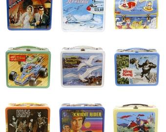 Retro Lunchbox Magnet - James Bond, Jetsons, King Kong, Kiss, Knight Rider, Jonathan Livingston Seagull, Johnny Lightning, Jet Patrol