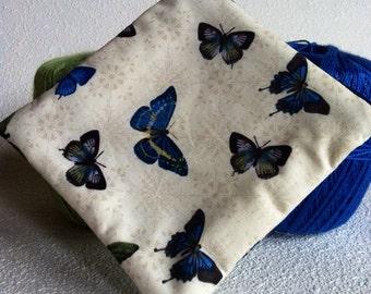 Beautiful butterflies square zipper pouch