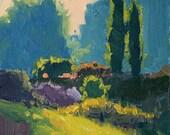Garden Path - 6 x 8 Inch Original Impressionist Style Oil Painting of a Garden - Garden Art - Wall Decor - Home Decor