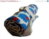 STORE CLOSING SALE crochet hook organizer -blue and red elephants