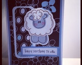 Happy Birthday to EWE Handmade Greeting Card