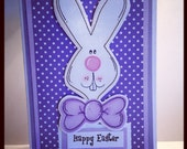 Happy Easter Bunny Handmade Greeting Card