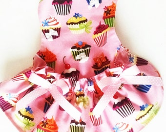 Sample Dress Cupcake Dog Dress Pink Dog Clothes Puppy This size only