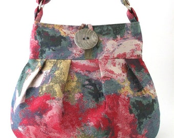 crossbody bag- crossbody tote bag - messenger bag - fabric handbag- pink diaper bag - shoulder bag- shoulder purse-  cross shoulder bag