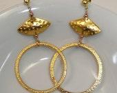 Zanzibar - 23 kt gold plated earrings