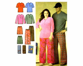 Misses Mens Sleepwear Pants Shorts Knit Top Remote Control Holder Simplicity 3646 Sewing Pattern Size XS - S - M Uncut